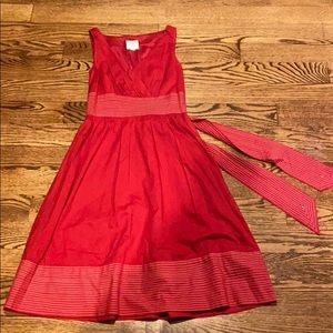 Suzi Chin for Maggie red Fit and Flare dress